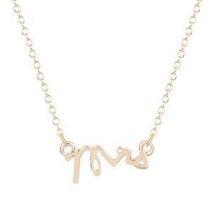 Jewelry - Dainty Mrs Pendant 18K Gold Necklace